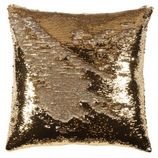 pad Kissen LISETTE 45 x 45 cm gold mit Paietten