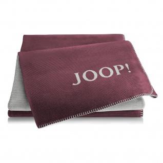JOOP! Decke Doubleface Melange 150 x 200 cm Lila - Graphit Baumwollmischung