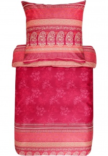 Bassetti Bettwäsche MONTE ROSA V1 rot 100% Baumwolle Ornamente mediterran