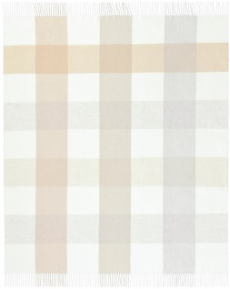 Biederlack Blocking nature 130 x 170 cm Karo Muster mit Fransen