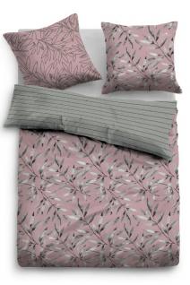 Tom Tailor Baumwolle Linon Bettwäsche Blätter 49869-841 rose aus 100% Baumwolle
