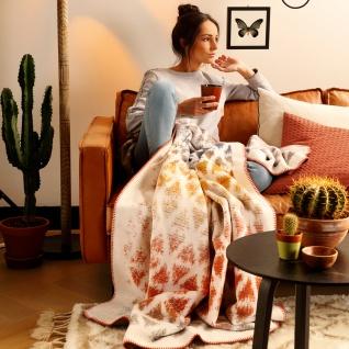 Biederlack Wohndecke Java 150 x 200 cm bunt Streifen- Gitter Baumwollmischung