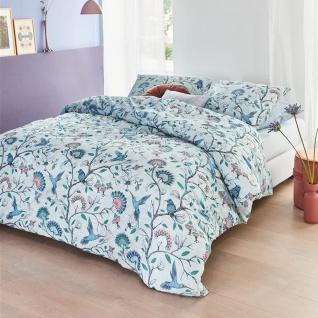 Beddinghouse Bettwäsche Renforcé Amazailia Blue aus 100 % Baumwolle floral