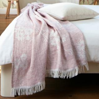 Biederlack Wohndecke Plaid Awakening 130 x 180 cm rosé Leinenmischung leicht