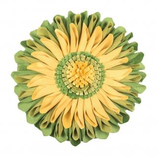 Pad runde Kissenhülle SUNFLOWER Ø 35 cm green in Blumenoptik 100% Polyester