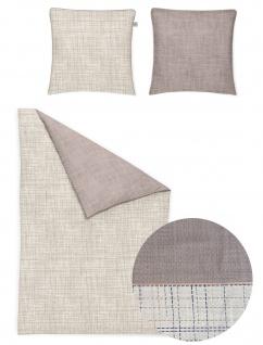 Irisette Mako-Satin Bettwäsche Sol-K grafisch beige 8054-80 aus 100% Baumwolle