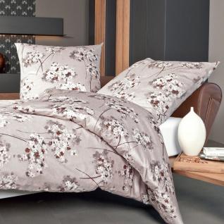 Janine Mako-Satin Bettwäsche Messina mandel 43074-07 aus 100% Baumwolle