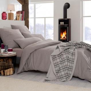 Estella Flanell Bettwäsche Latemar 5803-800 kiesel weich und wärmend für den Winter