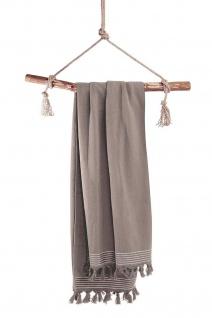Walra Hamamtuch Soft Cotton Taupe 100x180 cm 100% Baumwolle