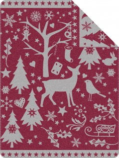 Ibena Wohndecke Jacquard Decke Vardo 150 x 200 cm stylisch Weihnachten