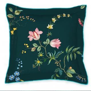 PIP Studio Zierkissen Fleur Grandeur Dark Blue 45 x 45 cm Blumenmuster