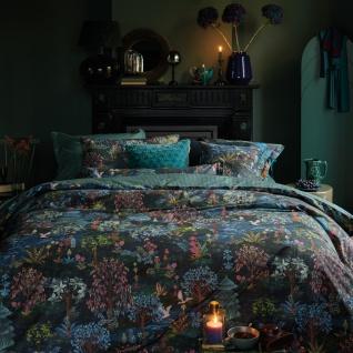 PiP Studio Perkal Bettwäsche Pip Garden Dark Blue aus 100% Baumwolle Waldlandschaft