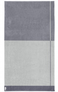 Seahorse Block - Strandlaken - 100 x 180 cm - grau 100% Baumwolle