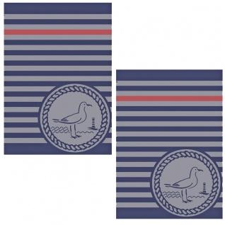 Ross 2-er Geschirrtücher Set 1804-20 Möwe 100% Baumwolle 50 x 70 cm martitm