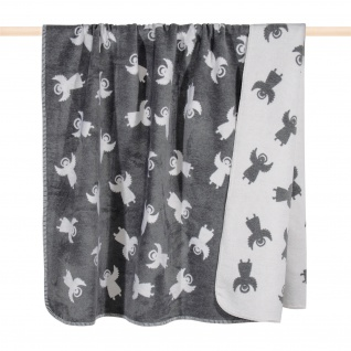 Pad Wolldecke Angel 150 x 200 grey | Baumwollmischung