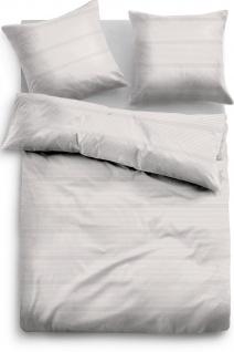 Tom Tailor Baumwollsatin Bettwäsche 69935-839 taupe aus 100% Baumwolle Streifen