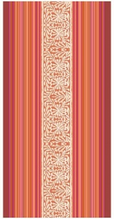 Bassetti Strandtuch Italiana in Algeri R1 - rot 90 x 180 cm Paisleymuster