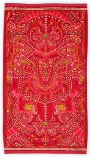 PIP Studio Strandlaken Sunrise-Palm Red 100 x 180 Blumenmuster Baumwolle