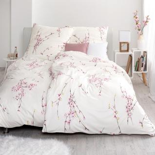Estella Mako-Interlock-Jersey Bettwäsche Kim ecru 100% Baumwolle floral