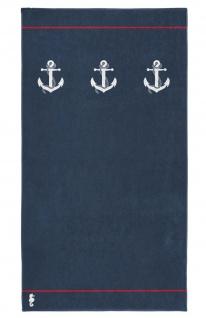 Seahorse Strandtuch Badetuch Larboard navy 100 x 180 cm 100% Baumwolle maritim
