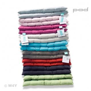 PAD Stuhlkissen RISOTTO 40 x 40 x 3 cm uni in mehreren Farben Baumwolle