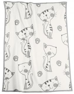 Biederlack Baby Kuscheldecke Lovely & Sweet Kitty natur 75x100 cm Baumwollmischung