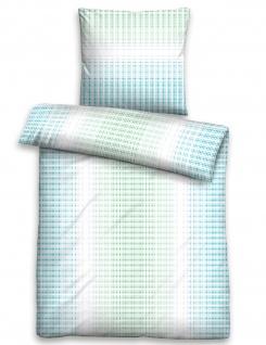 Trendline by biberna Satin Bettwäsche MOSAIK 68559 - 222 ciel 100% Baumwolle