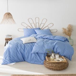 Estella Exquisit Mako Batist Bettwäsche Mattes 2239-630 bleu 100% Baumwolle