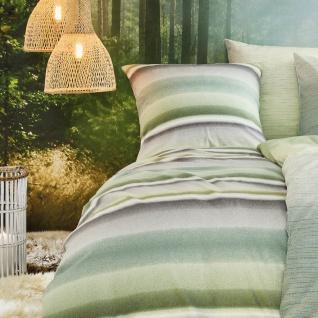 Irisette Biber Bettwäsche Davos 8016-30 grün Farbverlauf 100 % Baumwolle - Vorschau 3