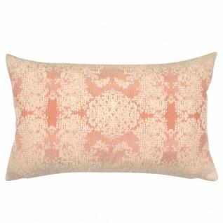 Pad Kissenhülle Zehus 35 x 60 cm pink, Struktur-Muster Velour Webung Polyester