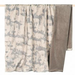 PAD Wohndecke Fashion beige 140 × 190 cm aus 100% Polyester Kunstfell und Samt