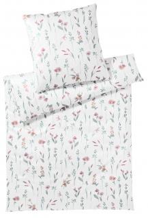 Elegante Interlock-Jersey Bettwäsche Noble 3543-01 rose geblümt bügelfrei