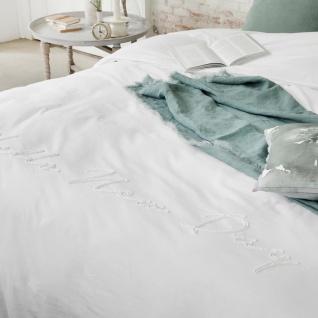 WALRA Bestickte Perkal-Bettwäsche New Day weiss 100% Baumwolle - Vorschau 3