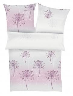 Ibena Mako-Satin Bettwäsche Zeitgeist 5850-550 rosa-grau 100 % Baumwolle