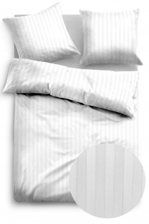 Tom Tailor Baumwollsatin Bettwäsche 69934-828 offwhite aus 100% Baumwolle Streifen