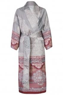 Bassetti Granfoulard Damen-Kimono MURGIA G1 grauOrnamente 100% Baumwolle