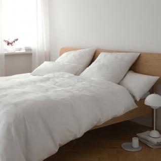 Elegante Jacquard-Satin Bettwäsche Generous 2329-00 weiß 100% Baumwolle