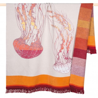 PAD Decke / Wohndecke / Kuscheldecke JELLY orange 150 x 200 cm Baumwollmischung