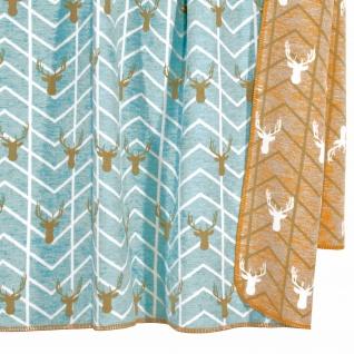 Pad Wolldecke Artist 150 x 200 aqua | Baumwollmischung - Vorschau 2