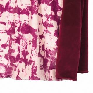 PAD hochwertige Wohndecke Fashion fuchsia 140 x 190 cm aus 100% Polyester