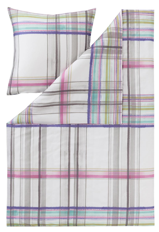 Estella Mako Satin Bettwäsche Pocket multicolor 4734-985 Streifen 100/% Baumwolle