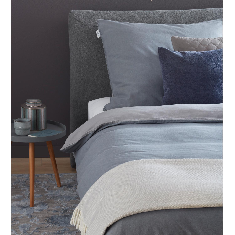 Schöner Wohnen Bettwäsche Pina Grau 100 Baumwolle Washed Cotton