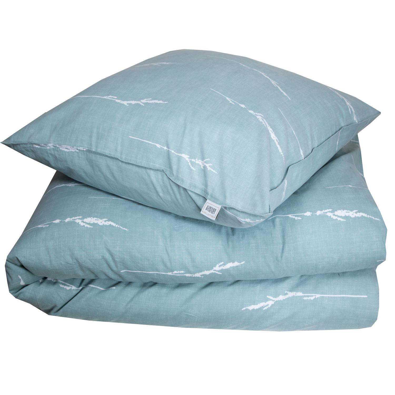 sch ner wohnen bettw sche gras mint 100 baumwolle. Black Bedroom Furniture Sets. Home Design Ideas