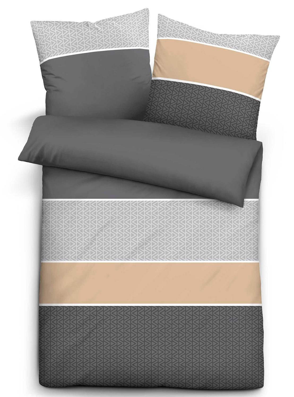 biberna biber bettw sche 8553 020 grau kaufen bei wohntextilien 4you e k. Black Bedroom Furniture Sets. Home Design Ideas