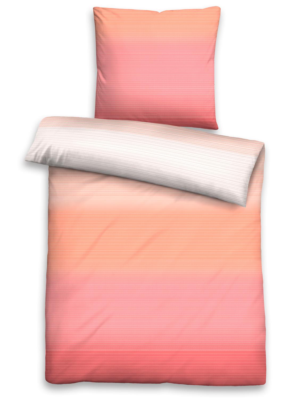 Biberna Seersucker Bettwäsche 22850 534 Farbverlauf Streifen 100