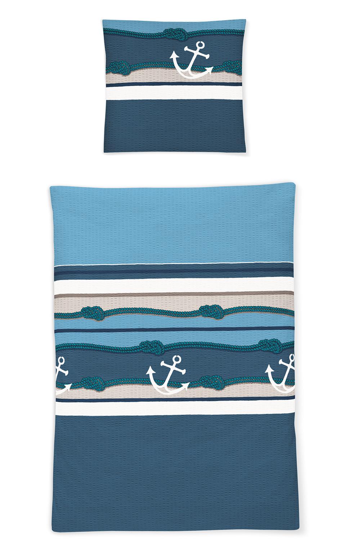Irisette Bettwäsche Soft Seersucker Calypso 8777 20 Maritim 100
