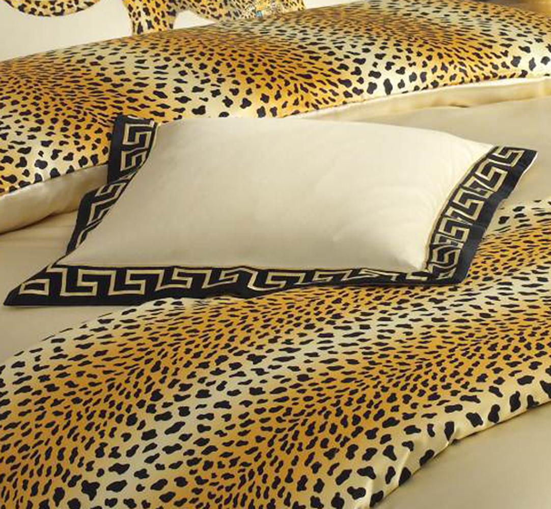Elegante Mako-Satin Bettwäsche Gepard Pair 2352-9 schwarz eksklusiv Animalprint