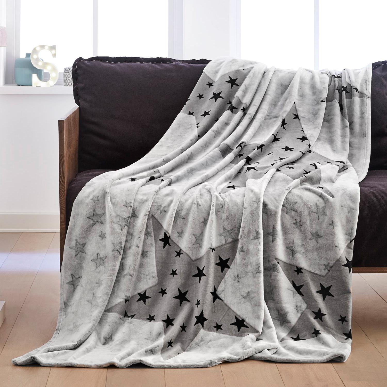 Decke Sterne s oliver decke sterne grau 150 x 200 cm 100 polyester flanell