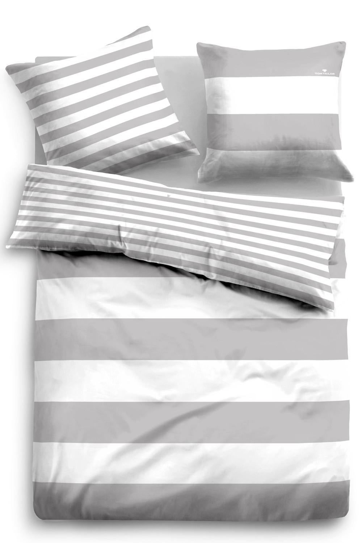Tom Tailor Linon Bettwäsche Streifen 49769 844 Grau 100 Baumwolle