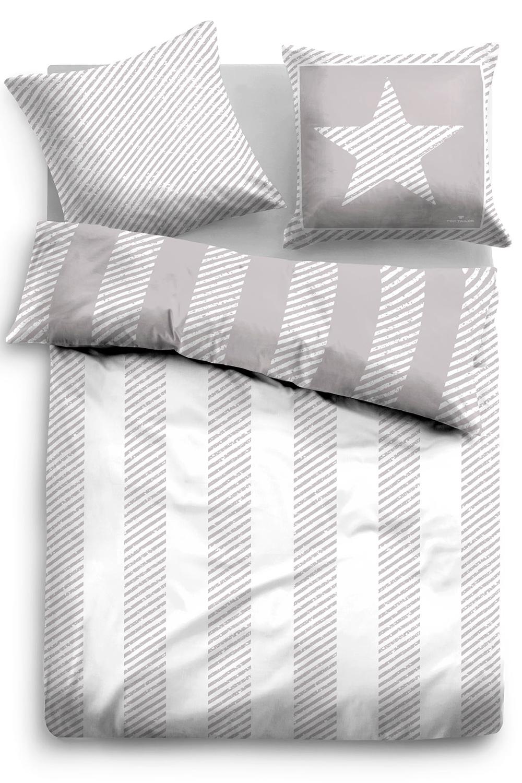 Tom Tailor Baumwoll Bettwäsche 49759 844 Grey 100 Baumwolle Modern